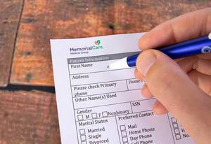 Filling out Patient Registration form