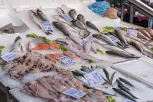 Fischgeschäft am Kapani Markt