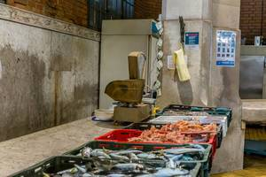 Fish market in Rijeka, Croatia