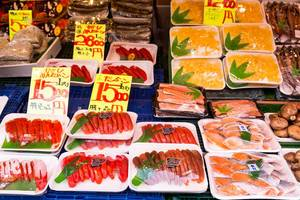 Fish on traditional japanese market