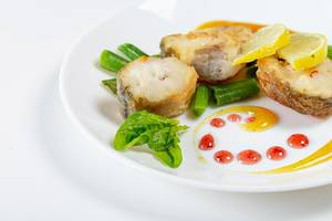 Fish slices with vegetables and mango sauce (Flip 2019)