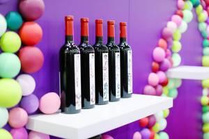 Five bottles of red wine at GoodWine, Wine Fair (Flip 2019)
