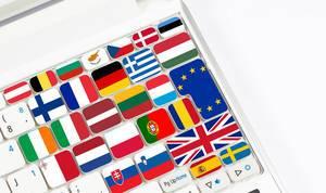Flags on keyboard