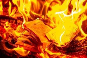 Flame texture with book pages