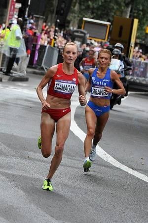 Flanagan @ Marathon während Olympia 2012