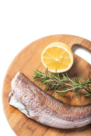 Flat lay above Hake with Rosemary and Lemon
