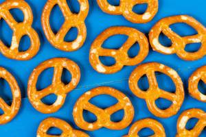 Flat lay above Industry Snacks Pretzels