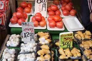 Fleischtomaten, Knoblauch und Ingwer