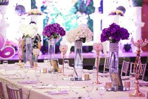 Floral decorations at the center table  (Flip 2019)