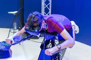 Flugsimulation von Airbus mit dem HTC Vive VR Headset