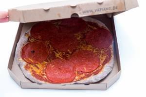 Food-Kette Vapiano bietet jetzt auch eine vegane Salamipizza an. Auch zum Mitnehmen