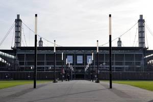 "Football stadium ""Rheinenergiestadium"" of Cologne front view"