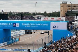 Formula E event at Tempelhof Flughafen airport