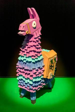 Fortnite Believer Llama figure at Gamescom