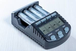 Four-battery charger