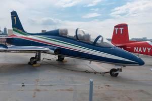 Frecce Tricolori Kunstflugstaffel der italienischen Luftwaffe in New York City, USA