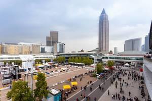 Freigelände der Automesse der IAA 2017 in Frankfurt am Main