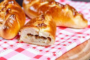 Fresh baked pies with fish