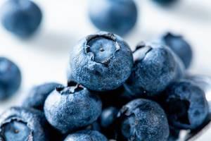 Fresh blueberries closeup