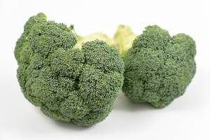 Fresh Broccoli on the white background (Flip 2020)