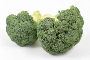 Fresh Broccoli on the white background