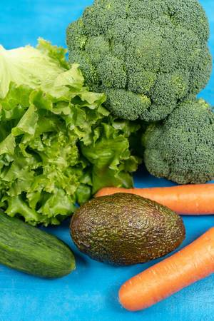 Fresh Carrots, Avocado, Broccoli, Lettuce and Cucumber (Flip 2020)