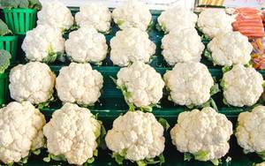 Fresh Cauliflower at the Farmer Market  (Flip 2019)