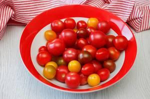 Fresh Cherries Tomatoes in a Bowl
