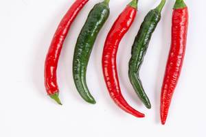 Fresh Chilli Red and Green Hot Peppers