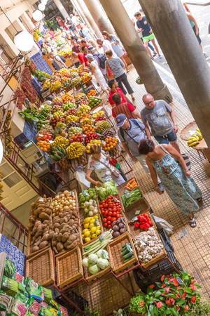 Fresh Fruits in Funchal: Mercado dos Lavradores in Funchal