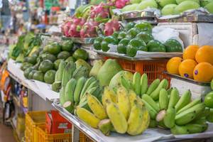 Fresh Fruits offered at Ben Thanh Tourist Market in Ho Chi Minh City