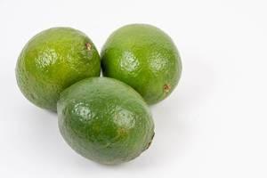 Fresh Green Limes on the white background (Flip 2019) (Flip 2019)