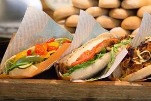 Fresh, handmade sandwiches - BBQ, Caesar, Vegi