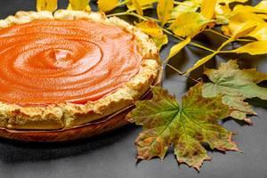 Fresh homemade pumpkin pie made for Thanksgiving (Flip 2019)