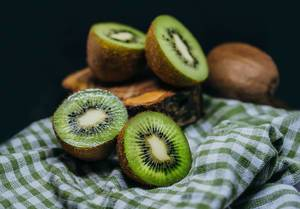 Fresh Pieces Of Kiwi