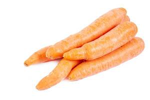 Fresh Raw Carrots isolated above white background