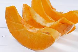 Fresh Raw sliced Pumpkin