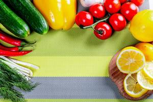 Fresh raw vegetables background  Flip 2019