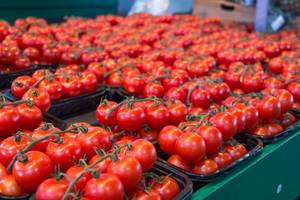 Fresh Red Tomatoes at The Market