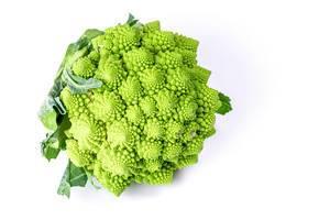 Fresh Romanesco broccoli, or Roman cauliflower (Flip 2020)