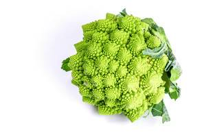 Fresh Romanesco broccoli, or Roman cauliflower