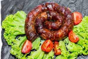 Fresh sausage with vegetables  Flip 2019