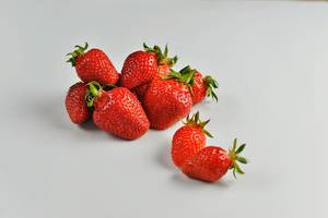 Fresh spring Strawberries on a white background