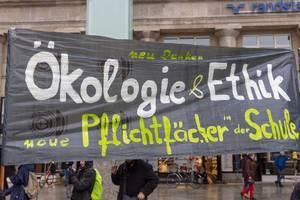 Fridays For Future Protestierenden möchten Ökologie & Ethik als neue Pflichtpfächer in der Schule einführen