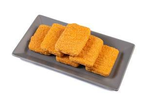 Fried Cheese above white background