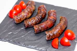 Fried domestic sausages  Flip 2019