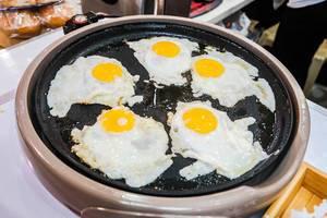 Fried eggs on electric fryer (Flip 2019)