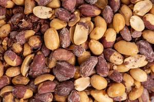 Fried Peanuts background macro image