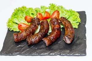 Fried sausages with vegetables  Flip 2019