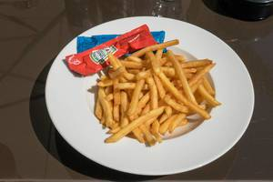 Fries with Heinz Tomato Ketchup and mayonnaise